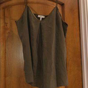 Silk green tank top